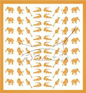 Samolepka pro nail art animal 01 zlatá