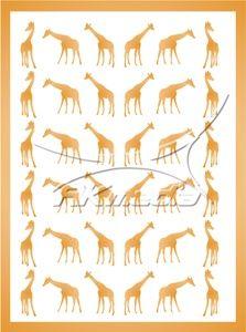 Samolepka pro nail art animal 04 zlatá AKmedia