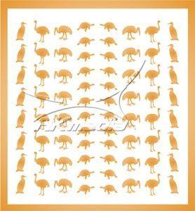 Samolepka pro nail art animal 05 zlatá