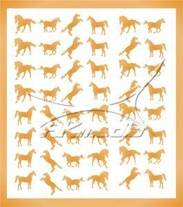 Samolepka pro nail art animal 07 zlatá