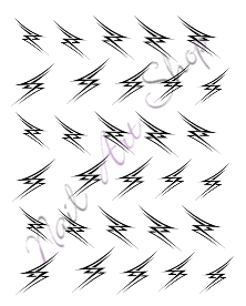 Vodolepka nail art VVZ-01