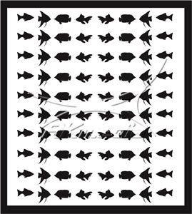 Samolepka pro nail art animal sea 02 černá
