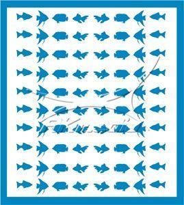 Samolepka pro nail art animal sea 02 světlá modrá