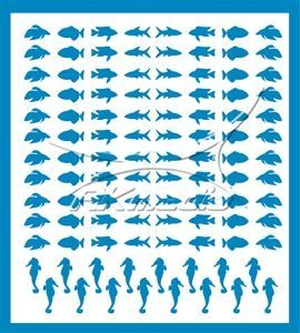 Samolepka pro nail art animal sea 03 světlá modrá