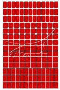 Samolepka pro nail art creativ čtverce červená