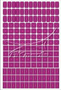 Samolepka pro nail art creativ čtverce tmavá růžová