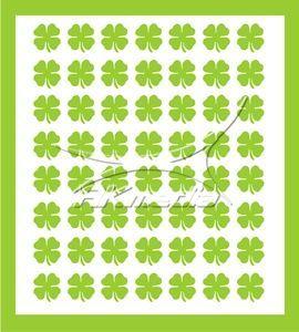 Samolepka pro nail art čtyřlístek zelená