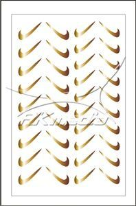 Samolepka pro nail art fajfka zlatá