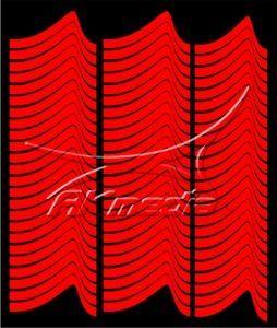 Samolepka pro nail art francie 01 červená