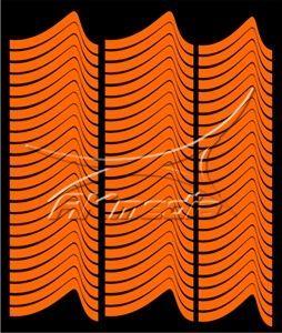 Samolepka pro nail art francie 01 oranžová