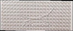 Creativ samolepky s glitry stříbrný okraj