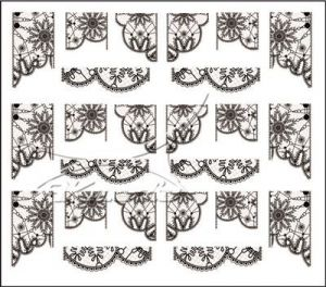 Vodolepka pro nail art RV-04