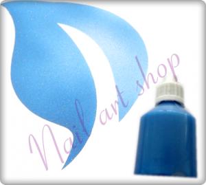 Airbrush barva na nehty modrá metalická