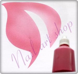 Airbrush barva na nehty růžová metalická