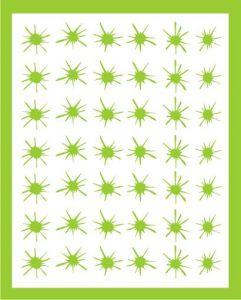 Samolepka pro nail art kaňka 2 zelená
