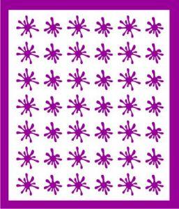 Samolepka pro nail art kaňka fialová