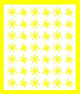Samolepka pro nail art kaňka žlutá
