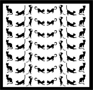Samolepka pro nail art kočka 10 černá