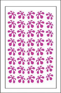 Samolepka pro nail art kytka 2 růžová