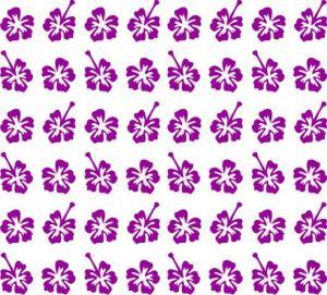 Samolepka pro nail art kytka 3 fialová tmavá