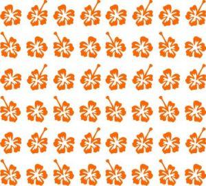 Samolepka pro nail art kytka 3 oranžová