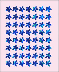 Samolepka pro nail art kytka 4 hologram 6