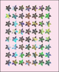 Samolepka pro nail art kytka 4 hologram 7