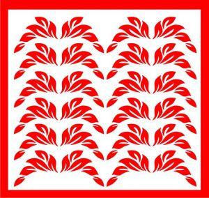 Samolepka pro nail art lístečky 1 červená
