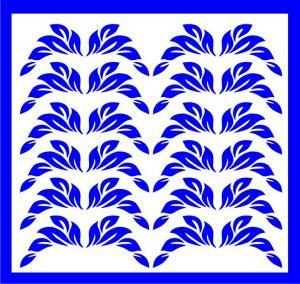 Samolepka pro nail art lístečky 1 modrá