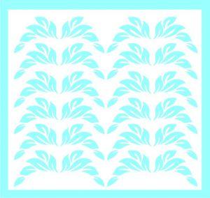 Samolepka pro nail art lístečky 1 modrá světlá