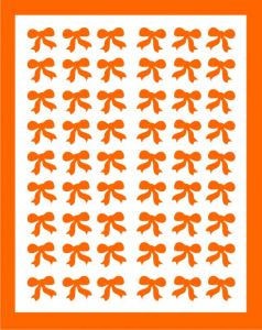 Samolepka pro nail art mašličky oranžová