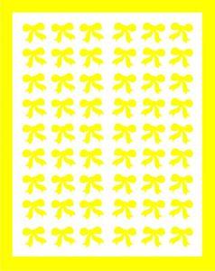 Samolepka pro nail art mašličky žlutá