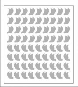Samolepka pro nail art motýl 1 stříbrná