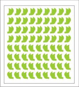 Samolepka pro nail art motýl 1 zelená světlá