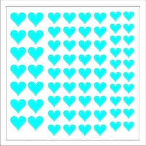 Samolepka pro nail art srdíčka 2 modrá světlá
