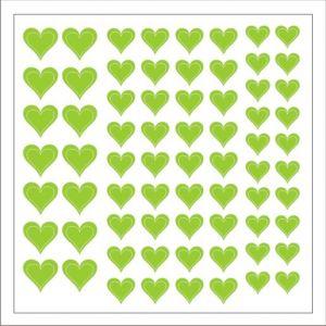 Samolepka pro nail art srdíčka 2 zelená světlá