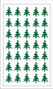 Samolepka pro nail art stromeček zelená tmavá