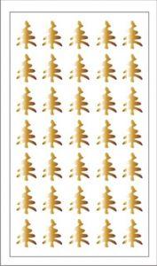 Samolepka pro nail art stromeček zlatá