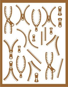 Samolepka pro nail art zip 3 měděná