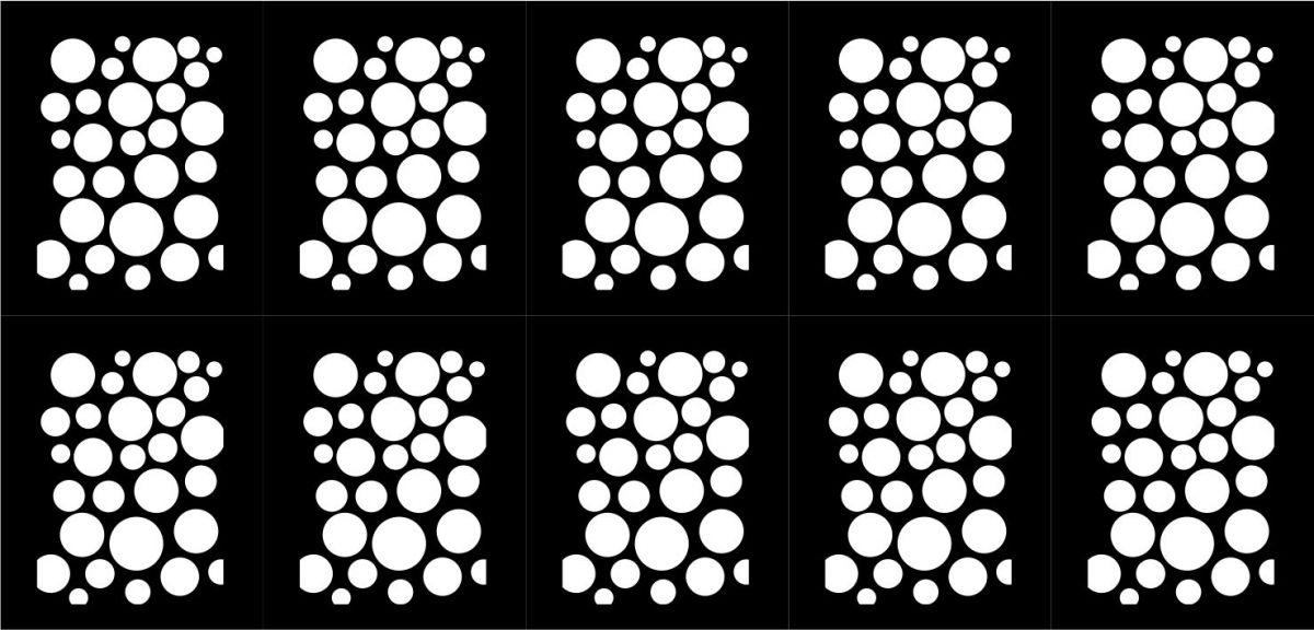 Samolepka - šablona vinyl 1 černá AKmedia