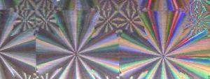 Fólie lepící hvězdy hologram
