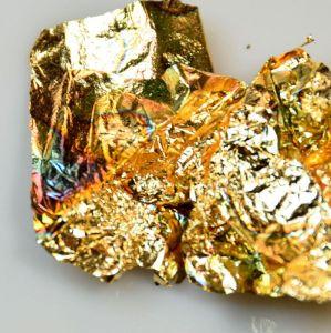 Fólie pozlátko zlatá mořená modř
