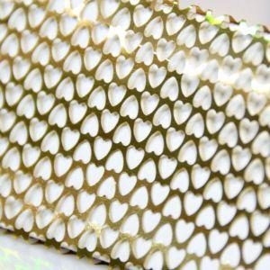 Fólie srdíčka zlatá