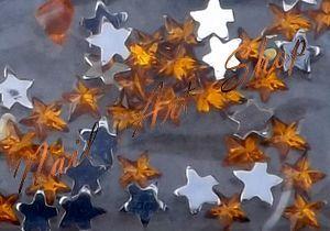 Kamínky hvězdičky zlatá