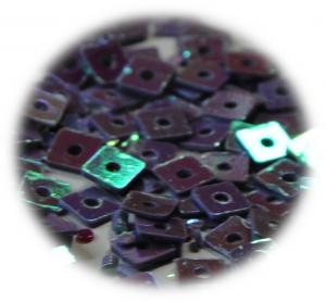 Kostičky s otvorem fialová hologram