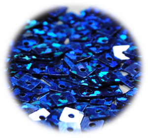 Kostičky s otvorem modrá tmavá hologram