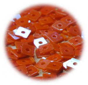 Kostičky s otvorem oranžová hologram