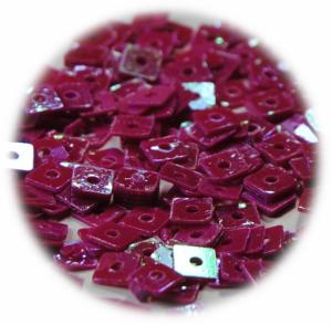Kostičky s otvorem růžová tmavá hologram