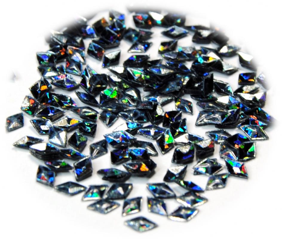 Diamant 3D pro zdobení nehtů grafitová hologram