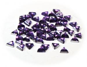 Kamínky trojúhelník fialová
